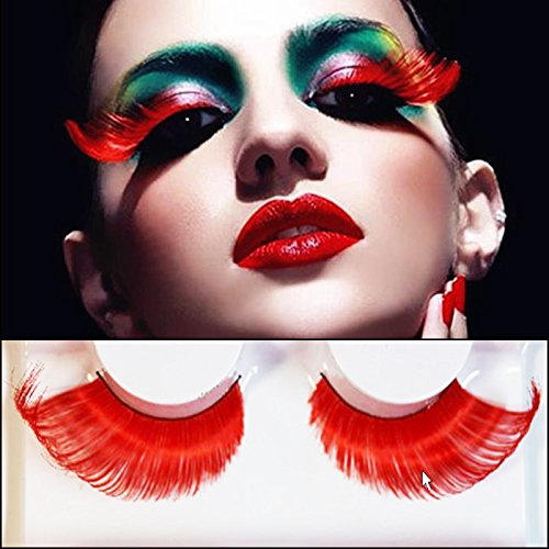 AnHua® New Sexy Fun Ladies Styles Handmade Reusable Long Thick Fancy Party Feather False Eyelashes Makeup Eye Lashes -