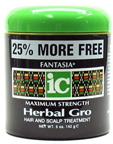Fantasia Maximum Strength Herbal Gro Hair And Scalp Treatment, 5 oz (Pack of 9)