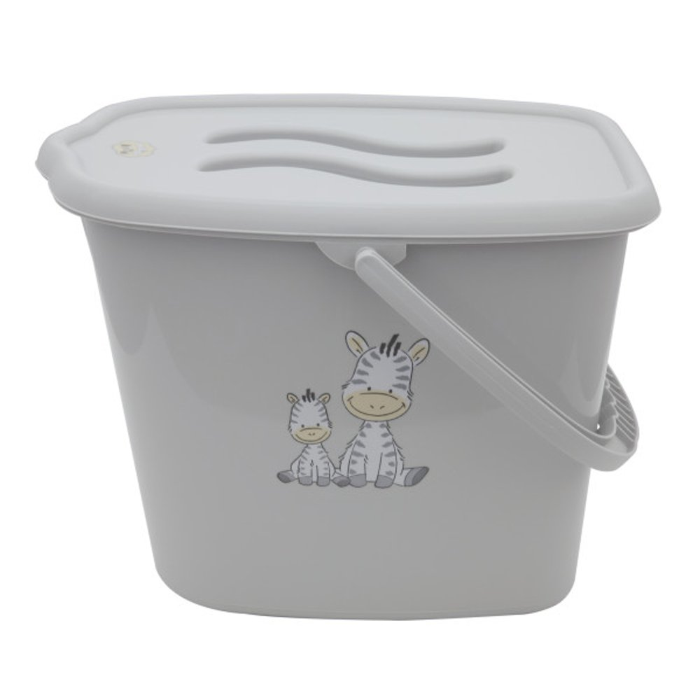 Baby Nappy Changing Dispose Laundry Bin Bucket Storage Container Lid Grey gorbanshop 125