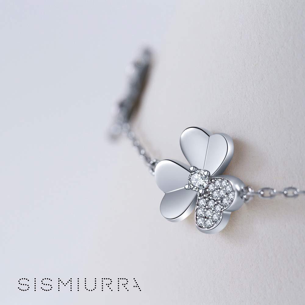 SISMIURRA Pulsera Mujer Plata 925 Flores Brazalete Regalo Ideal Originales para Madre Mam/á Dia de la Madre San Valentin