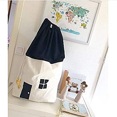 IKevan Washable Recyclable Large Toy Sack Can Be Used As Carpet Storage Hanging Bag for Storage Stuff Animal Toy Plush Toys Dolls Balls (A): Office Products