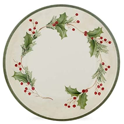 Lenox Holiday Gatherings Berry Dinner Plate  sc 1 st  Amazon.com : holly berry dinnerware - pezcame.com