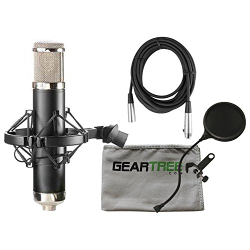 APEX 460B Large Diaphragm Multi-Pattern Tube Studio Condenser Microphone w/Gear -