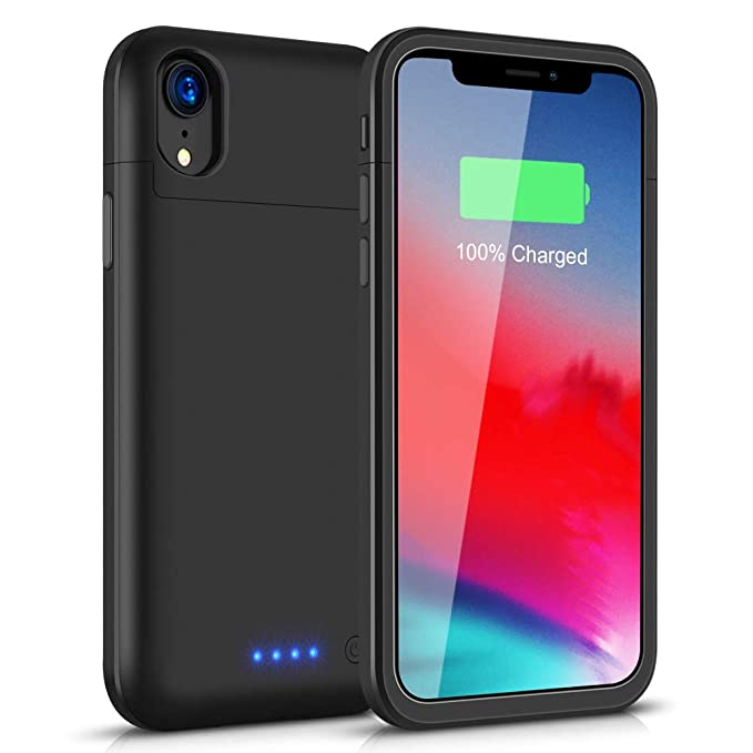 For Iphone Xr Battery Charger Phone Case With Audio 5000mah External Backup Charger Power Bank Protective Phone Shell Cover Phone Bags & Cases Cellphones & Telecommunications