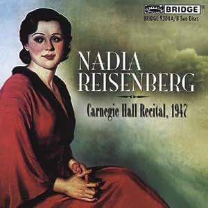 Nadia Reisenberg Carnegie Hall Recital, 1947