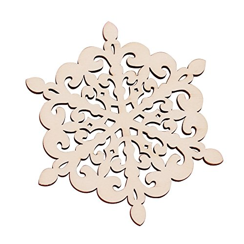 Ieasycan Vintage Snowflake Lace Cup Glass Mug Mat Kitchen Accessories Wooden Coaster Coffee Mug Cup Drink Coasters Table Decoration