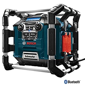 3. Bosch Bluetooth Power Box Jobsite AM/FM Radio/Charger/Digital Media Stereo PB360C