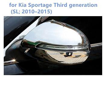 Cubierta de espejo retrovisor lateral de ABS cromado, 2 piezas para accesorios de coche KASP: Amazon.es: Coche y moto
