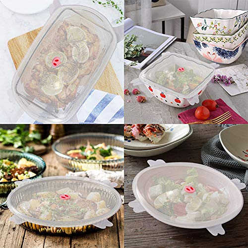 Aviat 2 pcs Reusable Silicone Wrap Bowl Multifunction Seal Cover Stretch Lid Lidded Freezer Box Crisper Food Airtight Storage ()