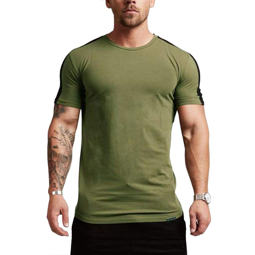 Men Muscle Irregular Knitted Sweater Slim Fit Jumper Pullover Blouse Tops Shirt