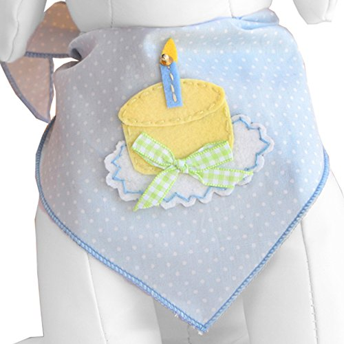 Picture of Tail Trends Happy Birthday Dog Bandana For Boys - 100% Cotton (M)