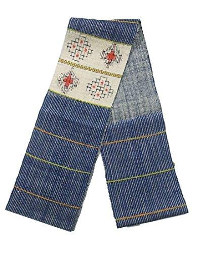 限りなく怪しいカポックリサイクル 名古屋帯 紬 八寸 横段に菱模様 正絹