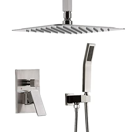 Starbath Ceiling Mount Shower System Brushed Nickel With 12 Rain