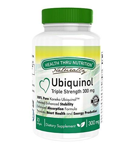 Ubiquinol 300mg 30 Softgels EAF CoQ10 (Enhanced Absorption Formula Coenzyme Q10 as Kaneka Ubiquinol) ()