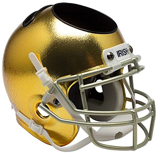 (Notre Dame Fighting Irish Miniature Football Helmet Desk Caddy - Textured with Metallic Mask - NCAA Licensed - Notre Dame Fighting Irish Collectibles)