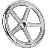 Tilt Handwheel with Nut Aluminium Without Handle Complete: Aluminium, D2= 4, D1= 180, 1Piece, k0160.1180x16
