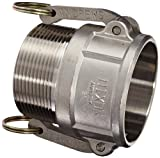 Dixon 300-B-SS Stainless Steel 316 Type B Cam and Groove Hose Fitting, 3'' Socket x 3'' NPT Male