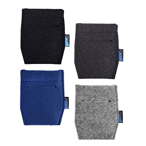 BCP 4 pcs Pocket Square Card Holder for Man's Suits(4 Color)