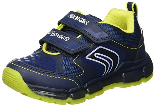 Geox Boys J Android A Low-Top Sneakers, Blue (Navy/Lime C0749), 1.5 UK (34 EU) ()