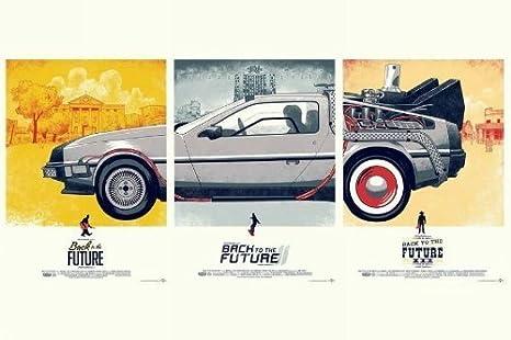 Amazon.com: Back To The Future 1 2 3 Movie coche Nice Gamuza ...