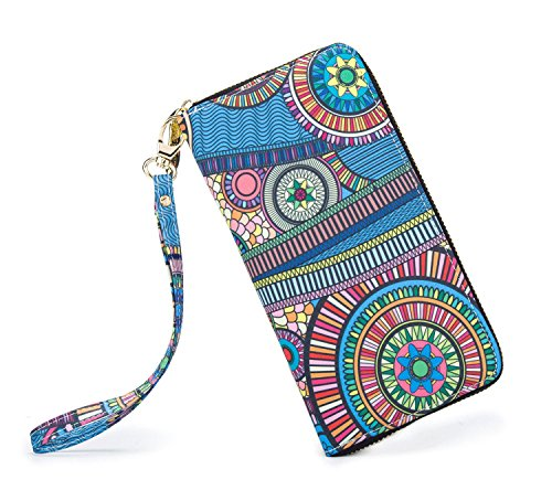 LOVESHE Women wallet Sunshine Avenue Bohemian wristlet Clutch wallets by LOVESHE