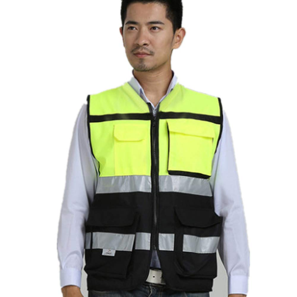 Reflective Safety Jacket No Sleeve for Work Outdoor Activity (Color : Green, Size : L) by Lizilan (Image #2)
