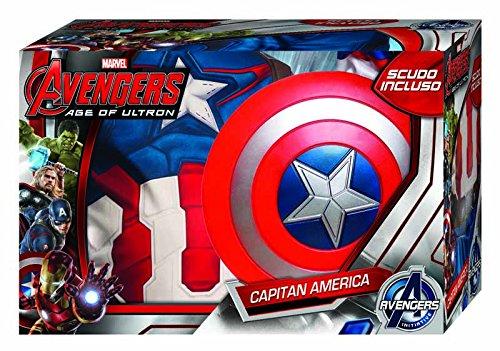 620434 M America Disfraz De NiñosTalla Avengers UltronCon Mrubie's Capitán EscudoPara Age Of nNPwOXZ80k