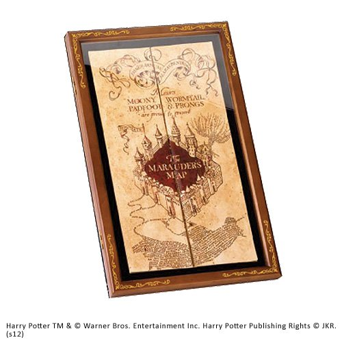 Noble Collection Marauder Map Display Case