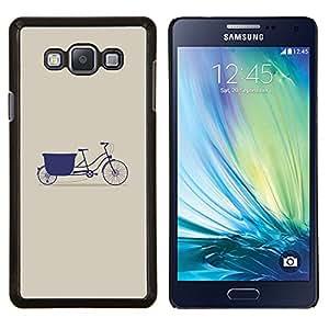 Stuss Case / Funda Carcasa protectora - Púrpura Beige minimalista Arte Hipster - Samsung Galaxy A7 ( A7000 )