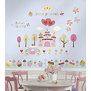 RoomMates Repositionable Childrens Wall Stickers Happi Cupcake Castle Good Looking