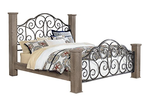 Standard Furniture Timber Creek Weathered Grey Taupe Queen Poster Bed (Standard Furniture Poster Bed)