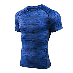 624c9adccd4 Image Unavailable. Image not available for. Color  TRYSIL Men s Compression  Shirt Short Sleeve Top ...