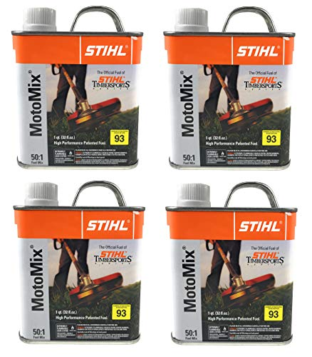 (Stihl 7010 871 0203 Motomix 50:1 2 Cycle PreMix Fuel, Pack Of 4)