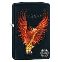Zippo Lighter: Anne Stokes Firebird - Black Matte