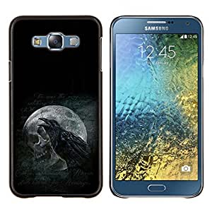Jordan Colourful Shop - Raven & Skull For Samsung Galaxy E7 E7000 Personalizado negro cubierta de la caja de pl????stico
