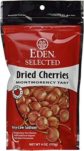 Eden Selected Dried Montmorency Cherries, 4-Ounce Pouches (Pack of 3)