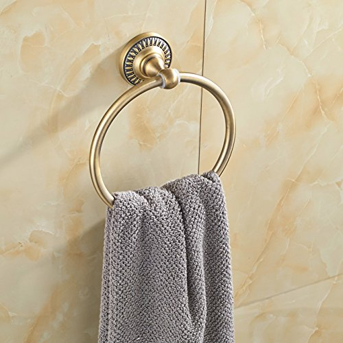 60%OFF Rozin Antique Bronze Bath Towel Ring Rack Wall Mounted