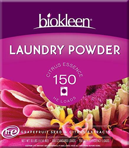 Biokleen Laundry Powder, Citrus Essence, 10 lbs - 150 HE Loads/100 Standard Loads