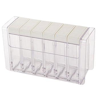 kentop especiero dosificadores Juego de plástico würze Box - Recipiente para especias Especias dispensador con Especias estanterías, ...