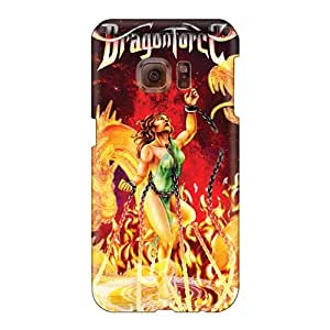 Samsung Galaxy S6 BdU175oKbQ Allow Personal Design High Resolution Dragonforce Band Skin Shock-Absorbing Cell-phone Hard Covers -phonecaseforall