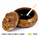Znzbzt ashtray creative large bedroom living room with personalized cover home fashion multifunction practical ashtray, dragon fireworks cylinder