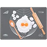 """Pastry Mat with Measurements 20""""x28"""", Extra Large Non-stick Silicone Rolling Mat, Non-slip Pie Dough Rolling Mat for Baking Enthusiasts"""