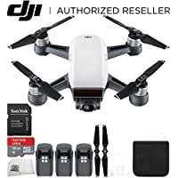 DJI Spark Portable Mini Drone Quadcopter Ultimate Bundle (Alpine White)