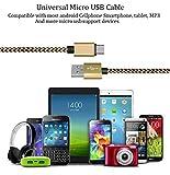 Josi Minea x 6 Pcs Premium Nylon Micro USB Cable