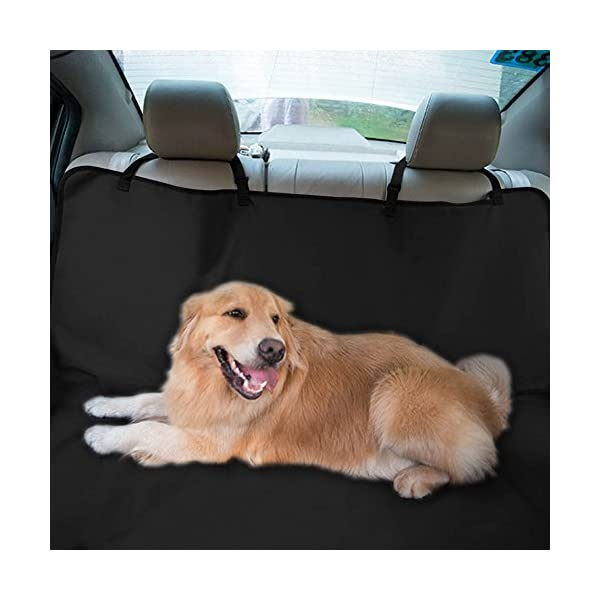 4 Hooks Thickened Back Seat Dog Seat Cover Waterproof Black Oxford Fabric Car Mat For Pet