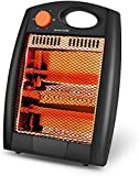 Portable Radiant Heater - Infrared Radiant Heater Quartz Infrared Heater with 2 Heat Settings, Quiet and Light Radiant Space Heater without Fan, Warm up Immediately, Overheat & Tip-Over Protection