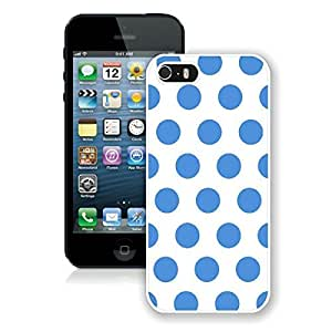 Polka Dot White and Blue Iphone 5s Speck Case Custom Cheap Iphone 5 White Cover by Maris's Diary
