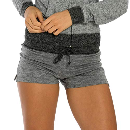 VBRANDED French Terry Jogger Shorts Large Grey/Black