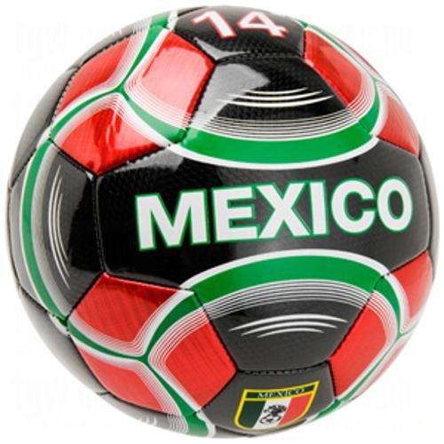 (Vizari Mexico Soccer Ball, Black, Size)