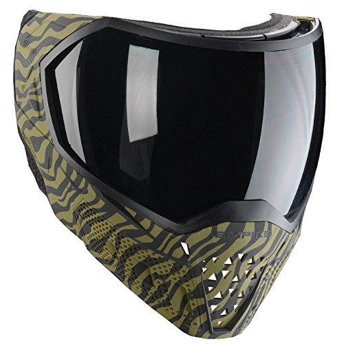Empire EVS Paintball Mask/Thermal Goggles (LE Olive Tiger - Mask Paint Stripes
